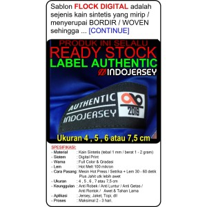 Label Baju Custom Setrika Flock Digital AUTHENTIC (alternatif woven)