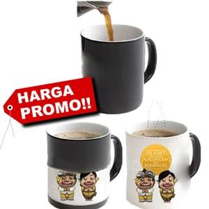 Jual mug berubah warna   cetak mug bunglon(magic mug/ ajaib)