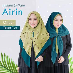 Hijab ORI Khimar 2in1 Bolak Balik Motif Airin Printing High Quality