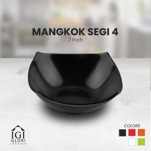 GLORI Melamin Mangkok Makan Mie Segi Empat Original SNI 7 Inch G4470