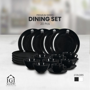 Glori Melamin Paket Dinner Set Cangkir Piring Premium Original D2001