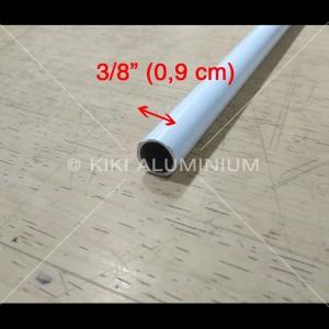 "Pipa Aluminium 3/8"" - Diameter 0,9 cm - Pjg. 6 meter t. 1 mm (Silver)"