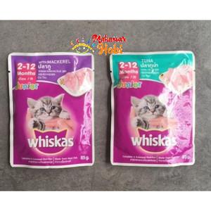 Makanan Anak Kucing WHISKAS JUNIOR Sachet Saset Pouch 85gr 85 gr Basah