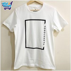 Kaos Monochrom Kotak - Kaos Putih - Kaos Distro-Kaos Katun-Kaos Bagus