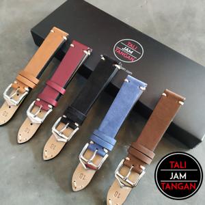 18mm 20mm 22mm Point Stitch Leather Strap Tali Jam Tangan Kulit