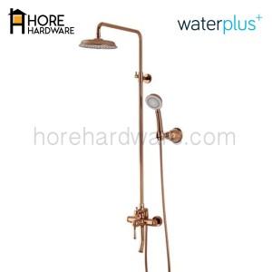 WATERPLUS Kran Shower Column Tiang MRB 211 Copper Rose Gold / Black