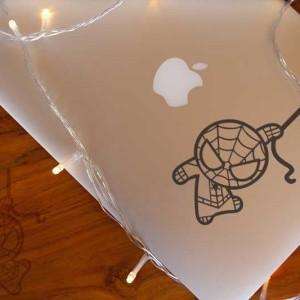 Decal Sticker Macbook Apple Stiker Spiderman Avengers Chibi Laptop