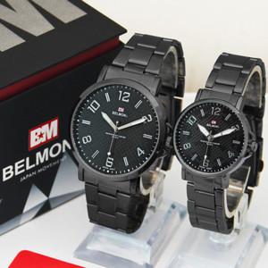 Jam Tangan Couple Rantai Belmont BM 6010 Hitam