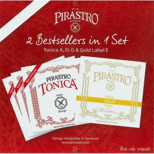 Senar Pirastro Tonica (G-D-A) + Gold Label E String - Violin/Biola 4/4