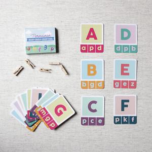 Wipe and Clean Flash Card Huruf Besar dan Huruf Kecil (FREE 5 Jepitan)