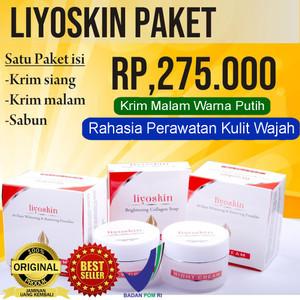 Liyoskin Cream - Paket Pemutih,Pencerah,Penghilang Flek Wajah BPOM Ori