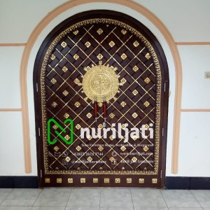 Pintu Masjid Nabawi Jati, Pintu masjid nabawi ornamen kuningan murni