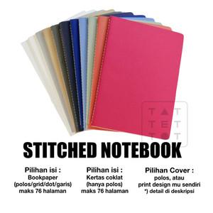 notebook custom murah A5 polos jahit