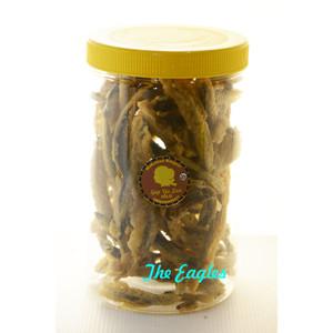 Keripik kripik belut goreng Yu Sri oleh Solo 385 gr snack ringan ikan