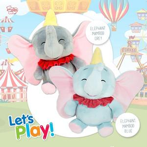 Boneka Gajah Istana Boneka Floopy Elephant Mambo Blue