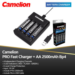 Camelion Charger Pro AA 2500 MAh Bp4 - Quick Charger