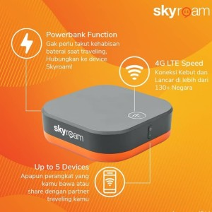 Modem Skyroam Wifi 4G 2GB - Worldwide (Minimal sewa 3 hari)