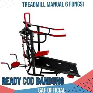 Treadmill Manual 6 fungsi Murah Ready COD Bandung Cimahi
