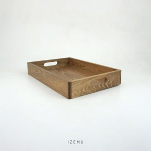IZEMU WAKU TRAY A4 RUSTIC PINE WOOD - Nampan Baki Kotak Kayu Pinus A4