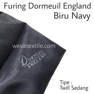 Bahan Kain Furing Dormeuil England Twil Sedang Pelapis Jas Navy