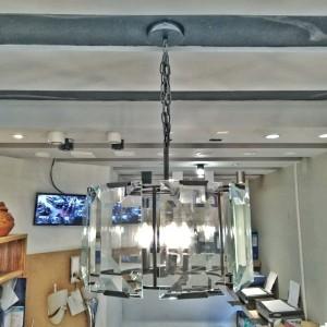 Lampu Gantung Dekorasi Model Industrial Kaca