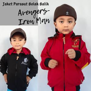Jaket Anak Laki-laki Iron Man Avengers Bolak Balik
