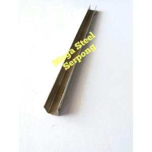 List lis U Stainless Steel Plat U uk 1 x 1 cm Tebal 0.8 mm (304)