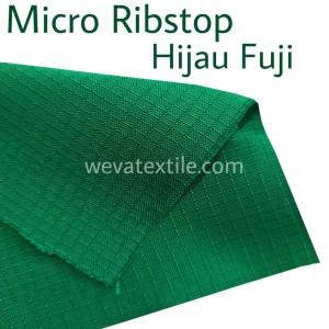 Bahan Kain Micro Ribstop Kain Jaket Parasut Waterproof Hijau Fuji