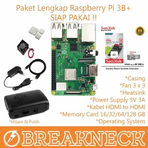 Paket Lengkap Raspberry Pi 3B+ SIAP PAKAI