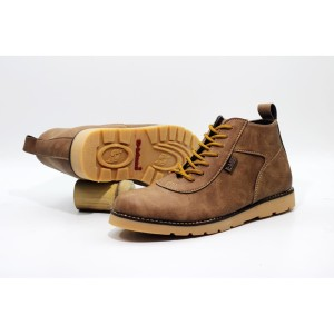 D-Island Shoes Venture Boots Comfort Leather Soft Brown