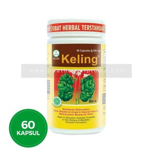 Borobudur Herbal Keling 60Kapsul Obat Batu Ginjal Sakit Pinggang Alami