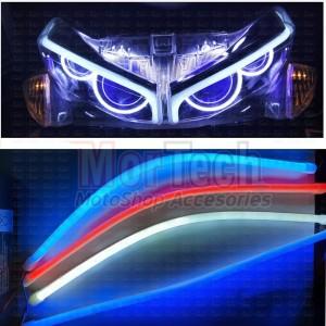 DRL Lampu Alis Fleksible LED Variasi NMAX Vario Aerox Ninja Universal