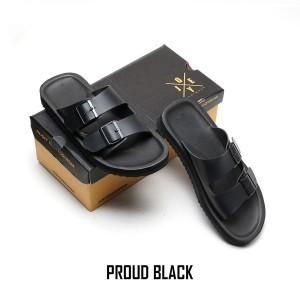 SANDAL CASUAL PRIA JOEY PROUD BLACK JOEY FOOTWEAR 100% ORIGINAL