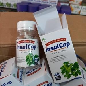 Insulcap Ekstrak Daun Insulin Kencing Manis Diabetes 50 Kapsul