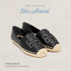TORY BURCH INES ESPADRILLE IN PERFECT BLACK/ SILVER 4122735