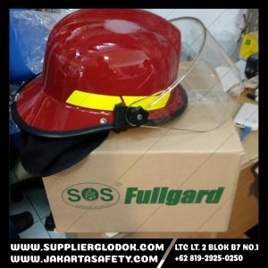 Helm Pemadam SOS Fullgard - SOS Fullgard Fire Helmet