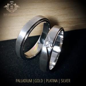 Cincin Kawin Nikah Tunangan Couple Perak R1047