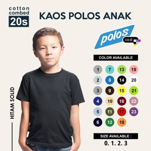 Tshirt / Kaos Polos Anak Oneck Super Cotton 20s Unisex