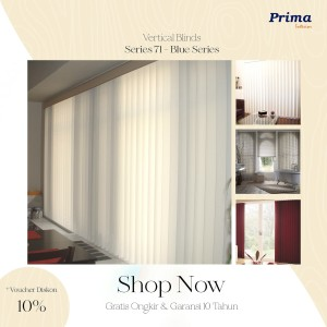 Vertical Blinds Blue Series Chain 127 mm & 90 mm Dimout Seri 71