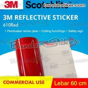 3M 610 Reflective Scotchlite Sticker 60 cm Meteran 24 In Stiker Rambu