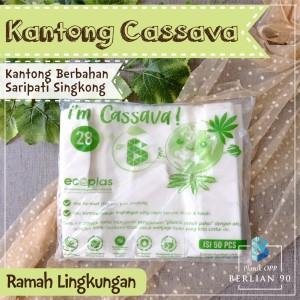 Kantong Singkong No28 / Kantong Plastik Ramah Lingkungan / Cassava Bag