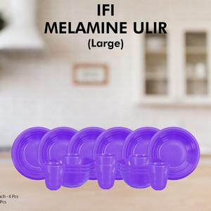 Glori Melamin Set Large Piring Makan Mangkok Gelas Minum MU0003