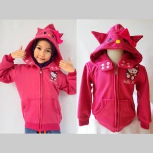 Jaket Anak Hello Kitty Pink Kupluk