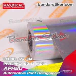 MAX DECAL APH80 LASER CHROME Holographic Printable 127 cm Meteran