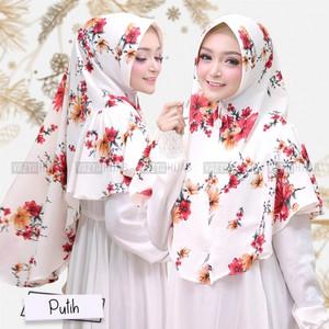 Hijab Khimar ORI Motif Printing Soraya / Tsuraya by Vazya Hijab