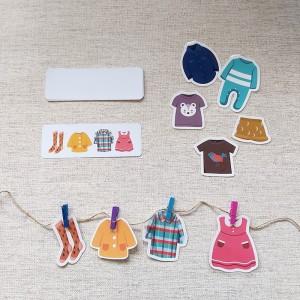 Aktifitas Menjemur Baju (Dengan Jepitan, Tali dan Pouch)