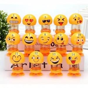 Pajangan Dashboard Mobil Kepala Per Goyang Emoji Emoticon Smile