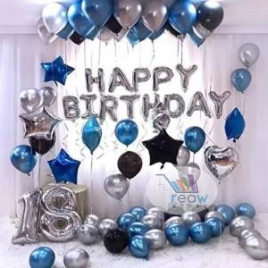 Paket Dekorasi Balon Ulang Tahun / Happy Birthday Silver 02