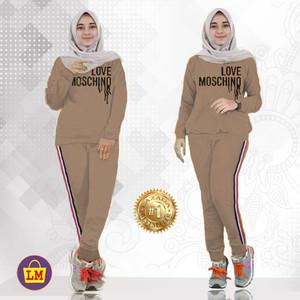LM 02864 Baju Setelan Olahraga Wanita Love Moschi XXXL TERMURAH