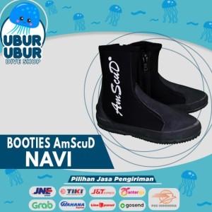 Sepatu Selam/Sepatu Karang/Booties AmScuD Navi High 5mm